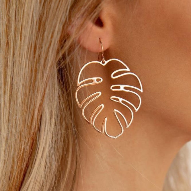 Bohemian Gold Leaf Earring