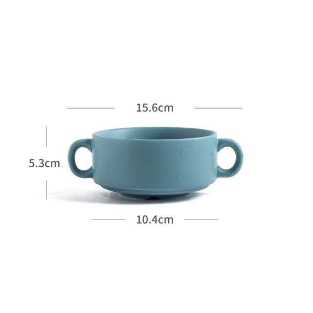 Nordic Ceramic Round Baking Bowl
