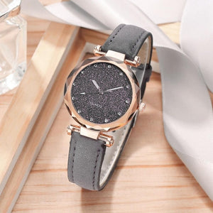 Starry Sky Leather Wrist Watch