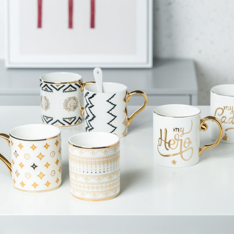 Gold-Touch Festive Breakfast Mug Collection