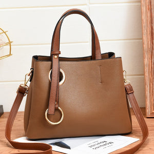 Leather Texture Shoulder Tote Bag Collection