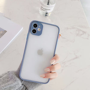 Minimalist Pastel Translucent iPhone Case Collection