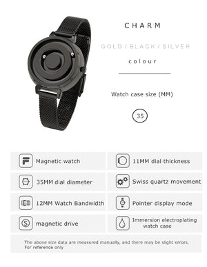 Minimalist Magnetic Ball Wrist Watch Collection