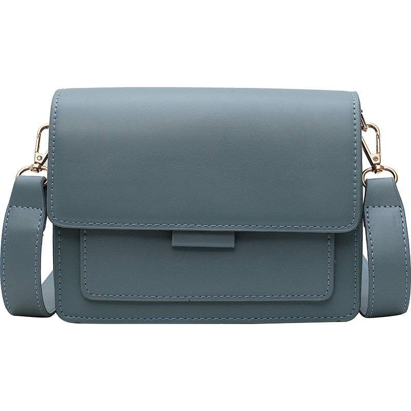 Minimalist Leather Texture Shoulder Bag Collection
