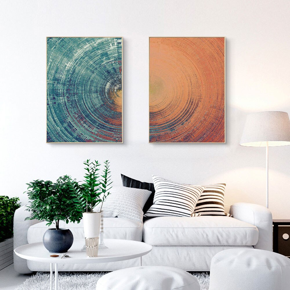 Abstract Tree Trunk Canvas Wall Art