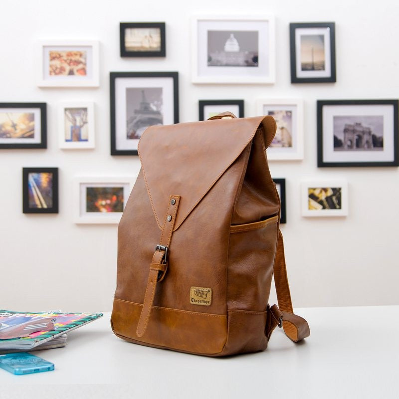 Leather Texture Travel Back Pack Collection