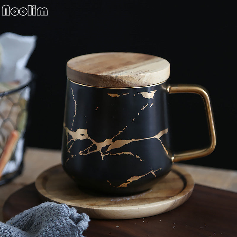 Marble Gold Coffee Cup Set