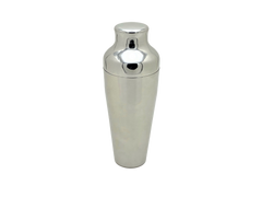 A two-piece cocktail shaker.