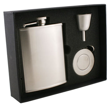 Engravable Luxury Stainless Steel Flask Gift Set