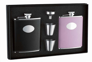 Engravable Luxury Double Flask Gift Set
