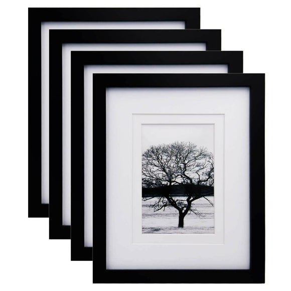 Egofine 8x10 Picture Frames 4 PCS - Made of Solid Wood HD Plexiglass for Tabl...