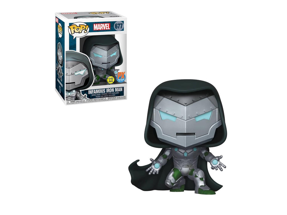 Victor Von Doom GITD Infamous Iron Man Exclusive PX