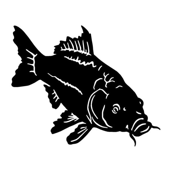 Carp Vinyl Fishing Decal Accessories Stickers Personalized Car Styling Removable Waterproof