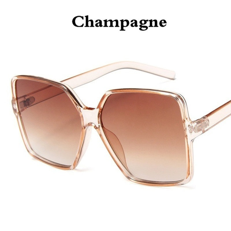 Sunglasses Women Fashion Retro Women's Oversized Sunglasses Gradient Brand Designer Ladies Sunglasses Uv400 Oculos De Sol Feminino Sunglasses Oculos De Sol Feminino