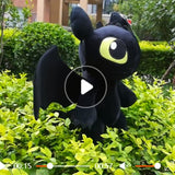 Hot Anime Movie How To Train Your Dragon 3 Plush Dolls Toothless Night Fury and Light Fury