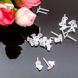 200Pcs/400Pcs/Pack Clear Plastic Stem Rubber Anti-Allergy Ear Stud Replacement Earring Accessories Protect Ears From Ear Hole Blockage
