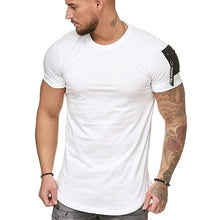 Load image into Gallery viewer, Mens Fashion Solid Color Fitness Tops Short Sleeve Casual Cotton Tee T-shirts
