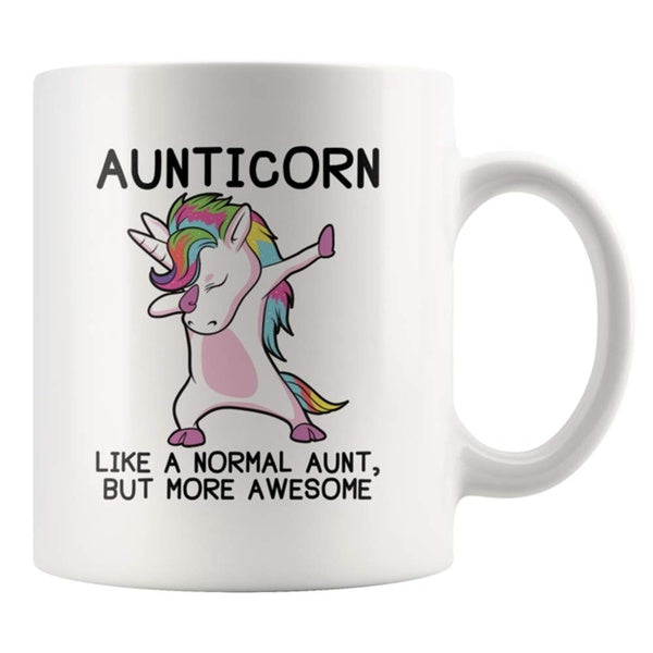 Aunticorn Aunt Unicorn Mug Cute New Aunt Gifts  Ceramic Mug