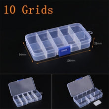 Load image into Gallery viewer, Practical Adjustable 10/15/24 Compartment Plastic Storage Box Jewelry Earring Bead Screw Holder Case Display Organizer Container