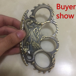 Brass Knuckle Dragon Ring Men Rings Outdoor Defence Rings Convenient EDC