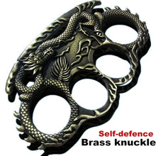Load image into Gallery viewer, Brass Knuckle Dragon Ring Men Rings Outdoor Defence Rings Convenient EDC