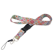 Load image into Gallery viewer, L1542 Mandala Flower Lanyards Id Badge Holder Keychain ID Card Pass Gym Mobile Badge Holder Lanyard Key Holder