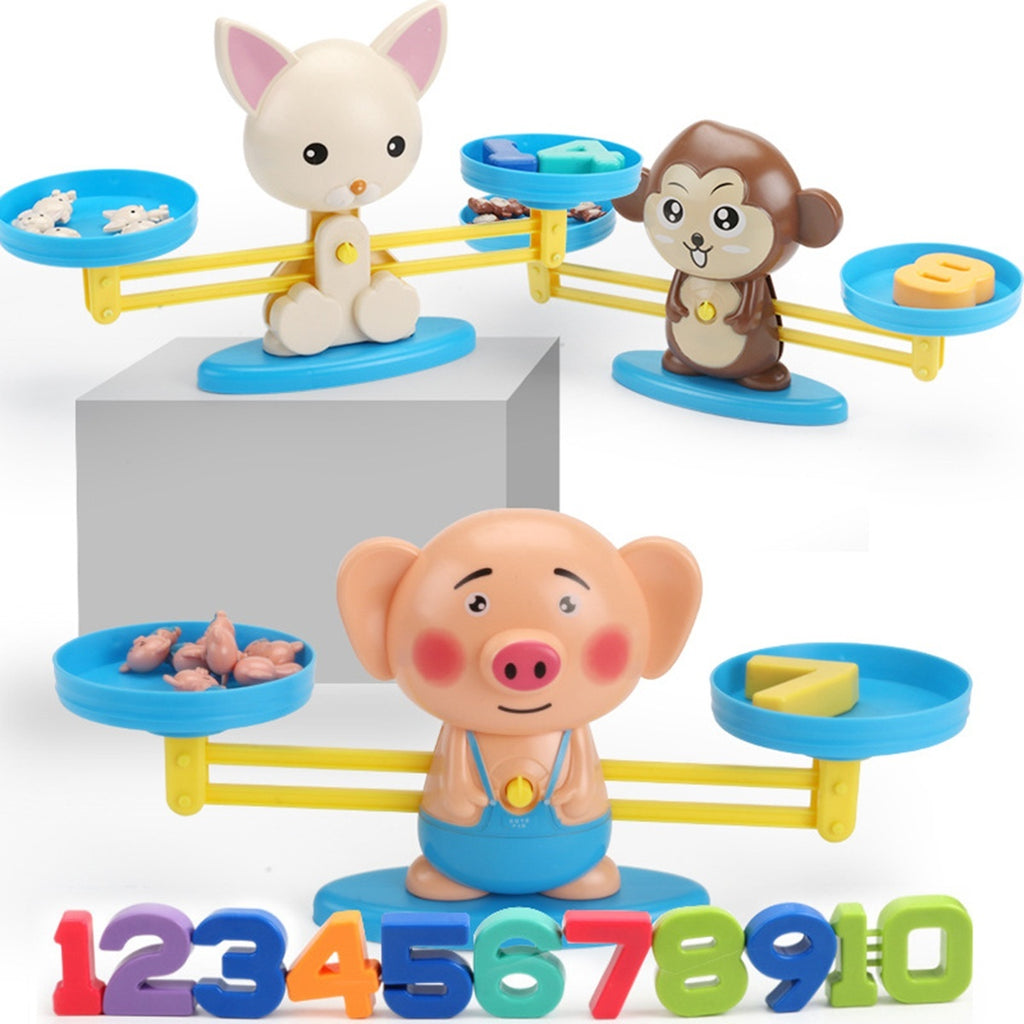 Early Learning Digital Balance Scale Toy Children Enlightenment Digital Addition and Subtraction Math Scales Toys