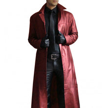 Load image into Gallery viewer, 3 Colors Fashion Men Medieval Steampunk Long Leather Jackets Vintage Autumn Winter Outwear Faux Leather Trenchcoat Cardigans Plus Size S-5XL