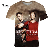 Load image into Gallery viewer, Supernatural3D  T - Shirt Men Fashion Painted T - Shirt Short Sleeve   Casual T - Shirt