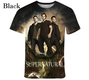 Supernatural3D  T - Shirt Men Fashion Painted T - Shirt Short Sleeve   Casual T - Shirt