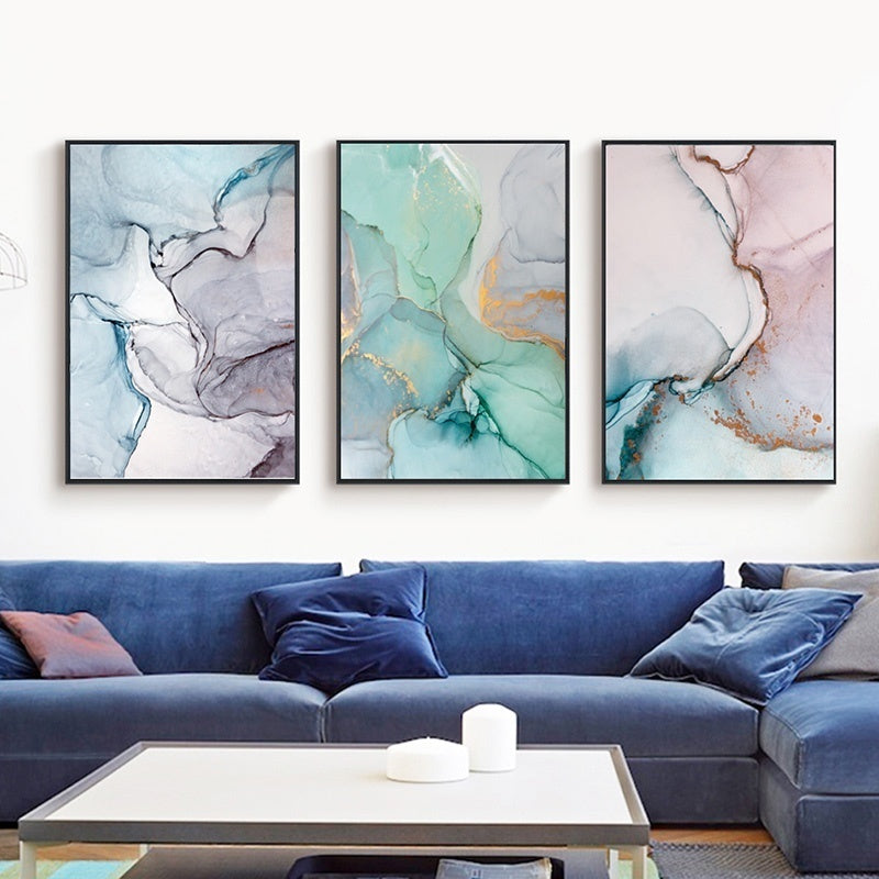 Abstract Color Canvas Painting Nordic Wall Art Poster Quadro Wall Pictures Cuadros Decoracion Geometric Home Decor Unframed