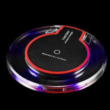 Load image into Gallery viewer, Universal Qi Wireless Charging Pad Charger Pad Mat Dock Receiver for IPhone X/8/8plus/Samsung Galaxy S9/S8/S7/S6/Google Nexus 4/5/6/Nokia Lumia