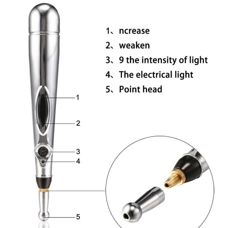 2019 New Therapy Pen Electronic Acupuncture Meridian Energy Heal Massage Pain Relief Pen