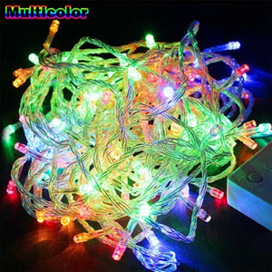 Christmas Lights 10M 20M 30M 50M 100M Decorative Led String Fairy Light 8 Modes Garlands Lights For Wedding Party Holiday Lights EU Plug