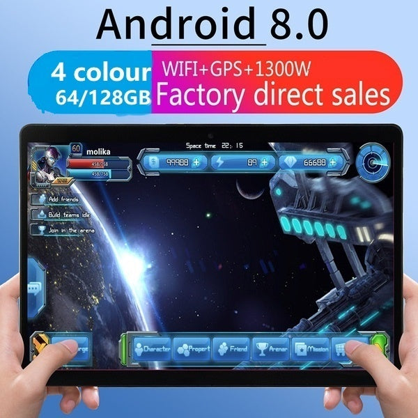 2019 new WiFi Tablet PC 10.1 Inch Ten Core 4G Network Android 8.1 Arge 2560*1600 IPS Screen Dual SIM Dual Camera Rear 13.0 MP IPS