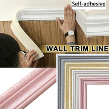 Load image into Gallery viewer, 2.3m Wall Skirting Border 3D Pattern Self Adhesive Waterproof Sticker Decoration
