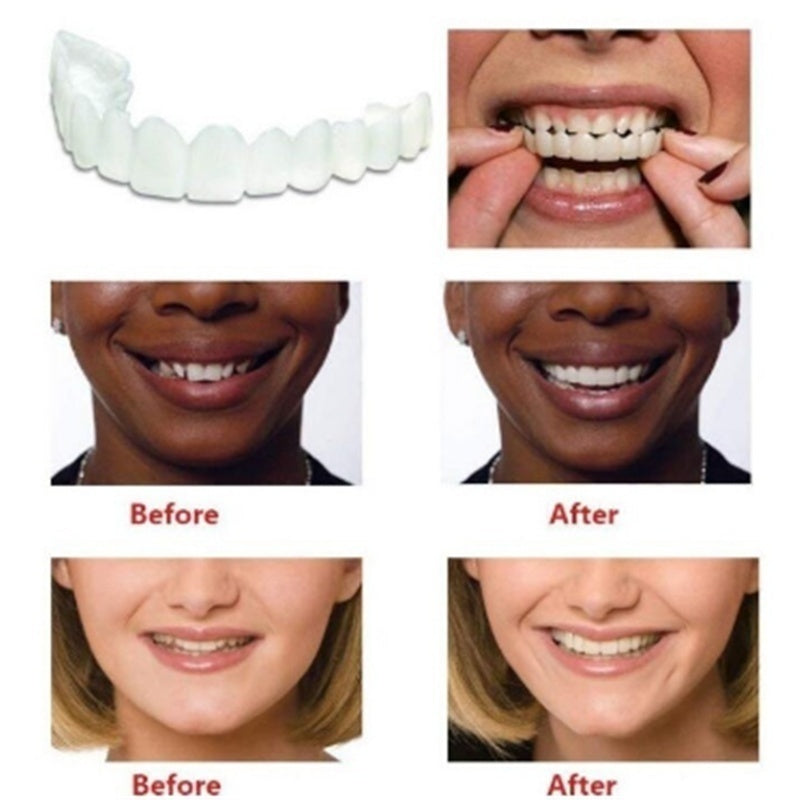 A Pair Upper & Lower High Quality Denture Instant Smile Comfort Fit Flex Cosmetic Teeth Denture Teeth Top Cosmetic Veneer NEW2019 M