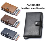 Men's Leather Slim Money Clip Front Pocket Wallet Thin New Holder Credit Card Business Card Holders Cardpackage