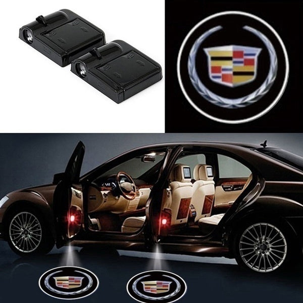 2PCS Wireless Welcome Light Car Door Light Projection Laser Light LED HD Logo Light For Toyota Mazda Nissan Ford Skoda Cadillac Lexus Mitsubishi Hyundai Kia Peugeot Citroen Reynolds etc decoration
