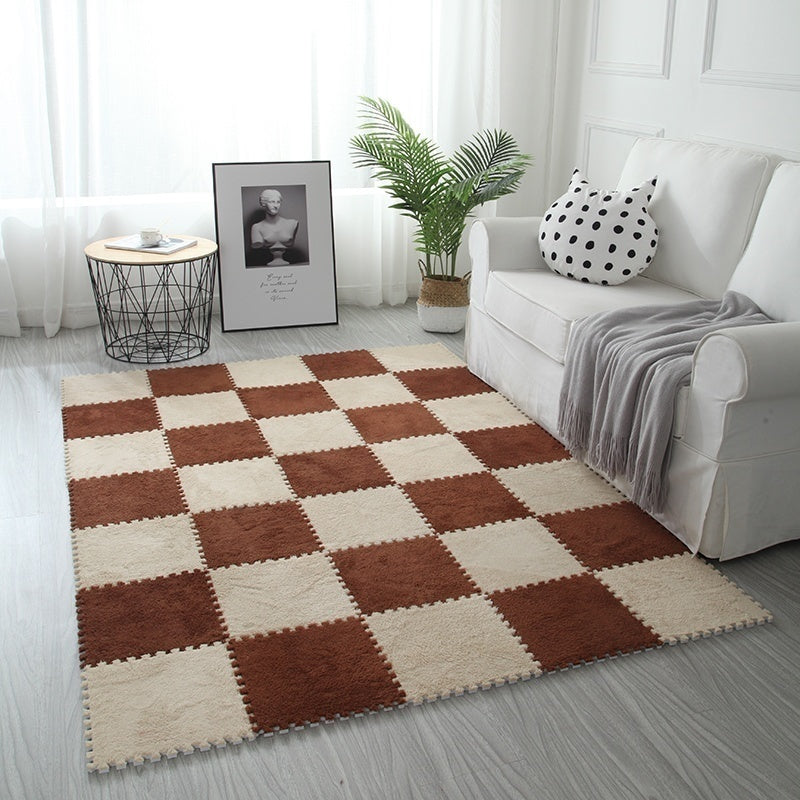 11 Colors 11.8*11.8' (0.39') Stitching Rugs and Carpet Living Room Bedroom Rugs and Carpet EVA Foam Villus Carpet Children Crawling Mat Free Combination Color Rugs