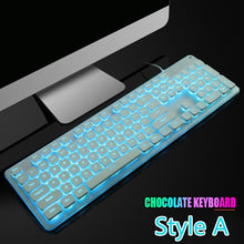 Load image into Gallery viewer, New LED 104 Keys USB Gaming Keyboard  Ergonomic Wrist Rest Keyboard, for Windows PC Gamer Desktop and Laptop Computer ,nice Gift for Him or Her