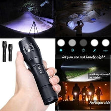 Load image into Gallery viewer, 2020 New High Quality Upgrade CREE XM-L2 LED Cree Led Torches Zoomable Tactical LED Flashlight Lamp