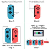 1Set Wireless Bluetooth Game Handle Left And Right Controller for Switch, Console-built Gyroscope+Vibration Motor+Color Case+One-key Connection Console