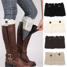 Load image into Gallery viewer, Fashion Women Hollow Crochet Knitted Button Cover Boot Socks Leg Warmers Toppers Accessories