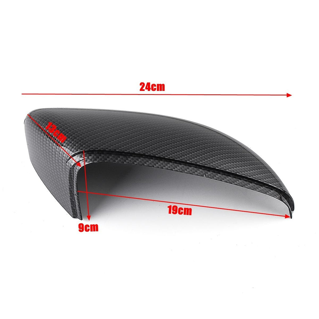 Left / Right Carbon Fiber Wing Door Rearview Mirror Cover For VW Touran 2010 - 2014 Golf MK6 2009 - 2013
