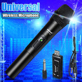 Professional UHF Wireless Microphone Handheld Mic System Karaoke With Receiver