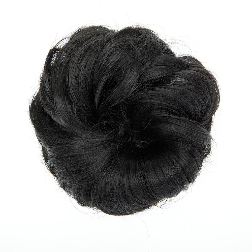 2019 Women Fashion Synthetic Hair Pony Tail Hair Extension Bun Hairpiece Scrunchie Elastic Wedding Wave Curly
