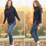 Women's Long Sleeve Hooded Sweater