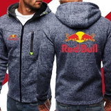 Winter Spring Men's Jackets Red Bull Hooded Coats Casual Zipper Sweatshirts Male Tracksuit Fashion Jacket Mens Clothing Outerwear XS-4XL