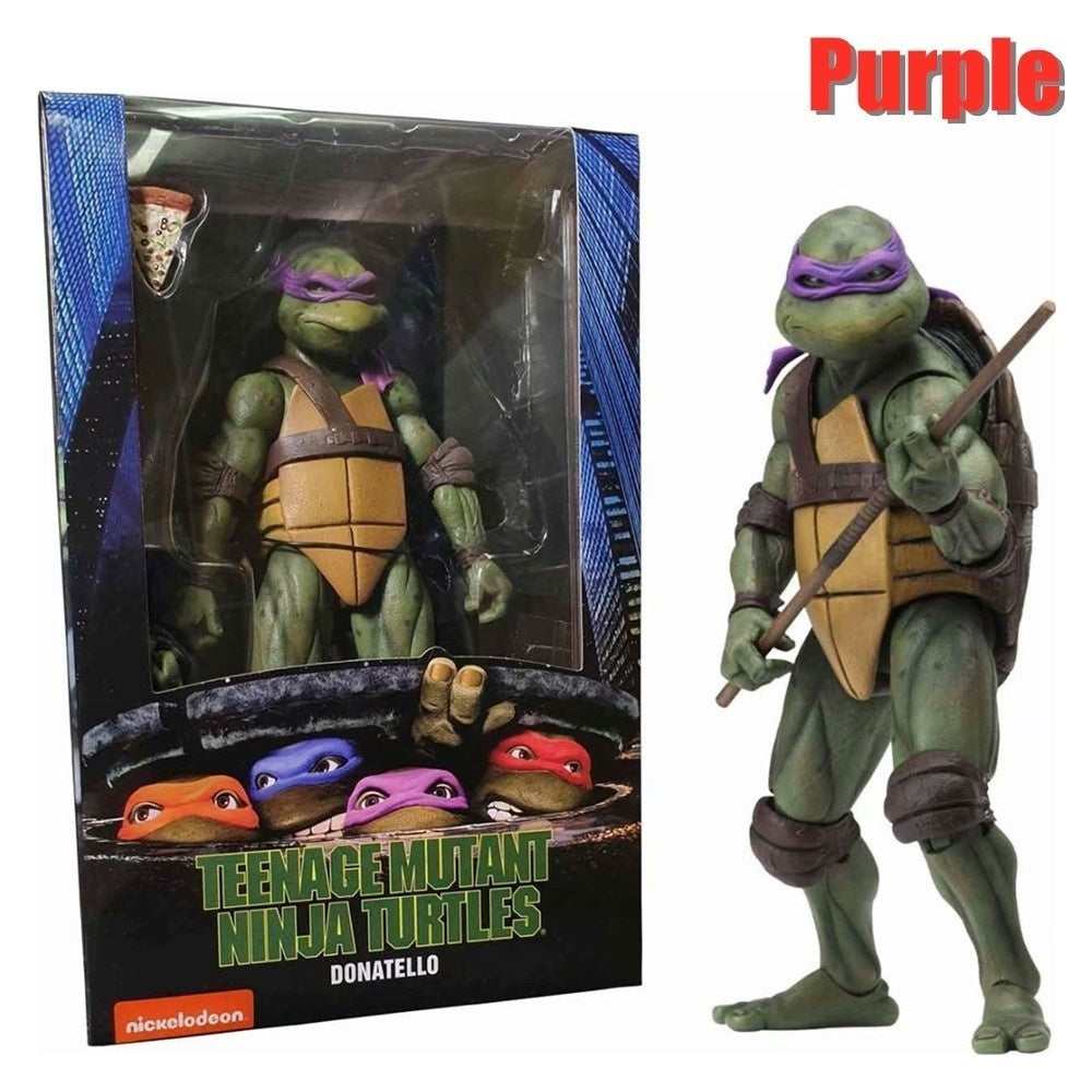 Original NECA Exclusive Teenage Mutant Ninja Turtles 18cm/7'' High Quality TMNT Action Figure Toys'